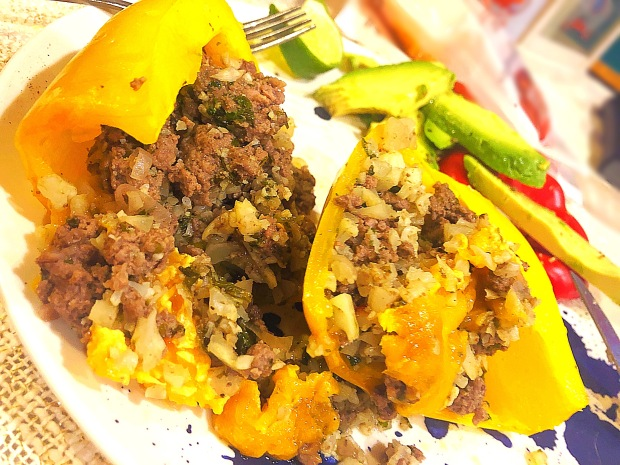 cheery and charming_keto_elk stuffed peppers_1
