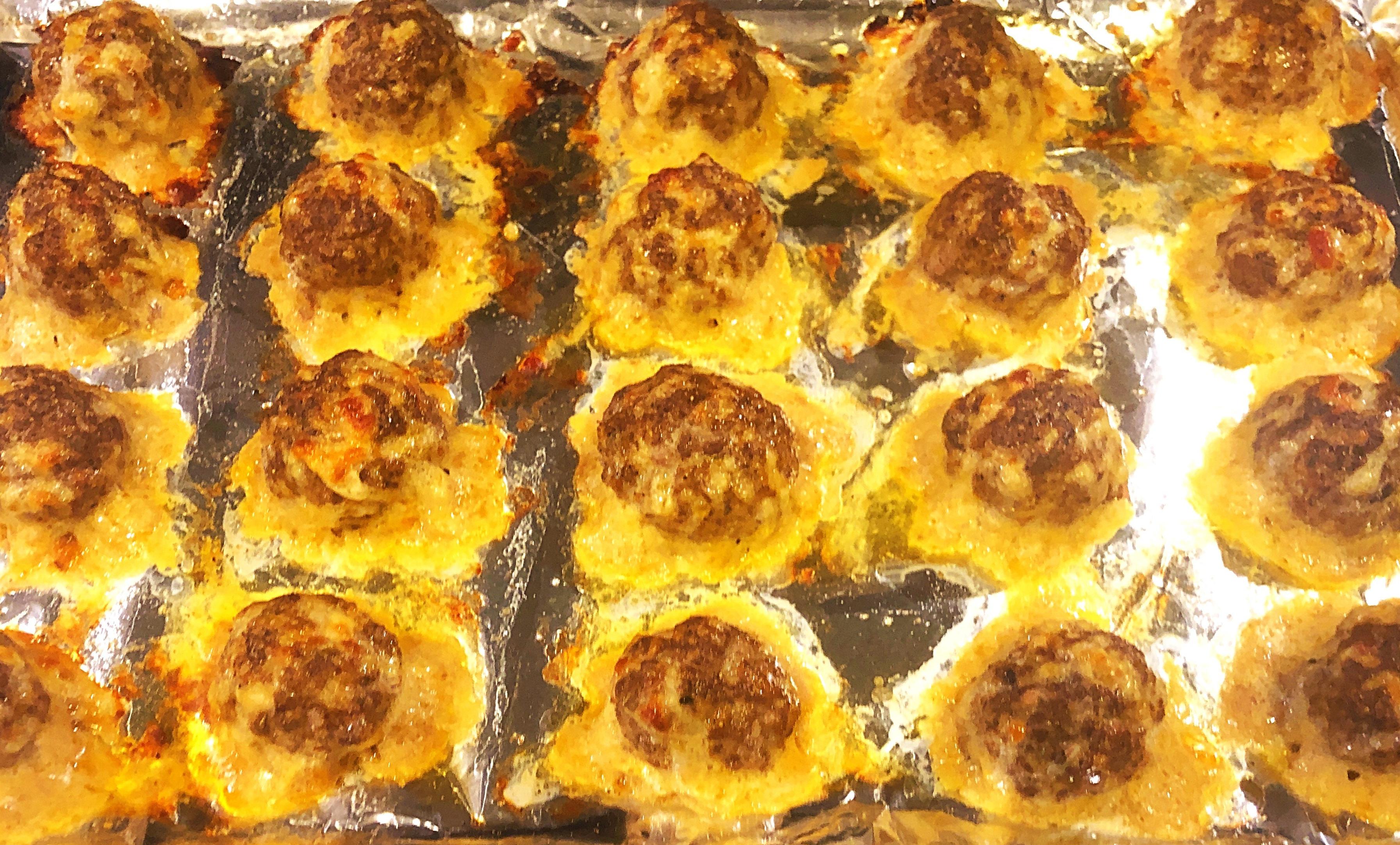 cheery and charming_keto_italian stuffed meatballs recipe 1